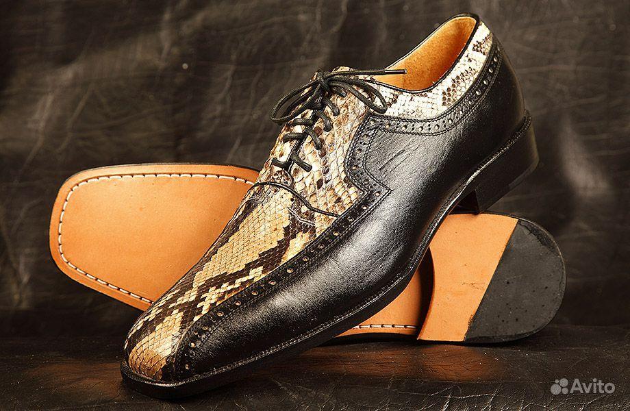 Объявление Ботинки кожа питона (2 фотографии). Американские му