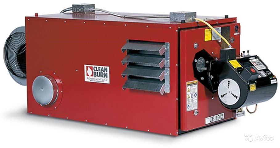 Воздухонагреватель на отработанном масле