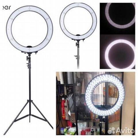 Лампа для макияжа с подсветкой круглая