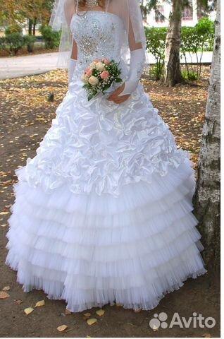 Объявление о продаже Очень красивое свадебное платье в Краснодарском крае на AVITO.ru.