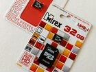 Карта памяти MicroSD 32gb Mirex (class10)