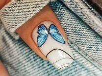Комбинированный маникюр с покрытием гель-лак