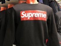 Толстовка свитшот Supreme новая.Черная — Одежда, обувь, аксессуары в Санкт-Петербурге