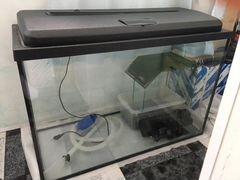Аквариум 120 литров, с островком, фильтром и нагре