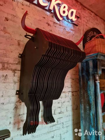Скульптура настенная «Образ быка»