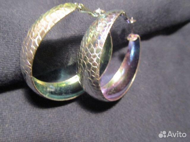 широкие серьги кольца