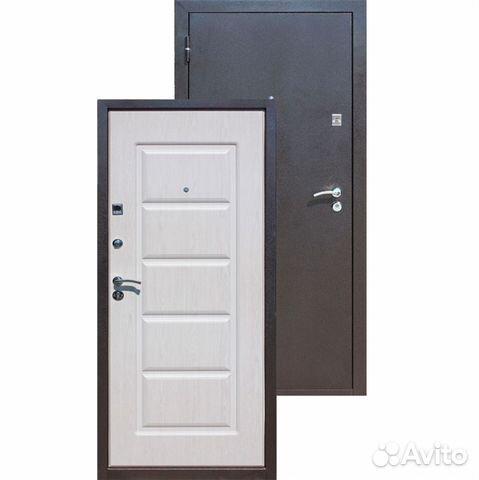 дверь входная мдф белый глянец