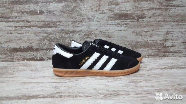 37ce76ed Кроссовки Adidas Hamburg чёрные мужские женские | Festima.Ru ...