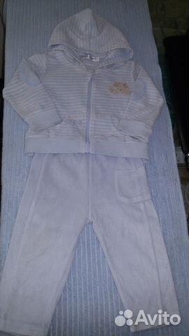 Велюровый костюмчик 74-80 89159910344 купить 1