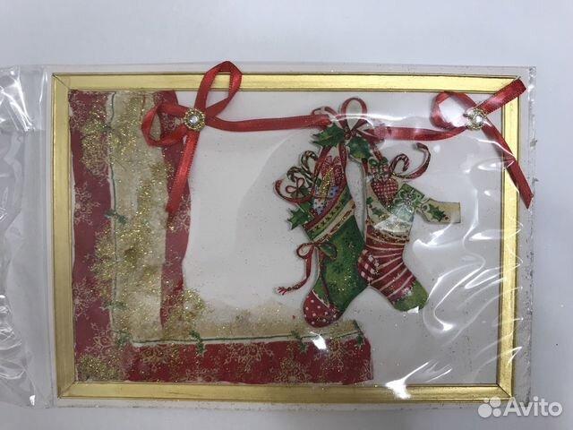 Открытка новогодняя. Handmade 89114516362 купить 3