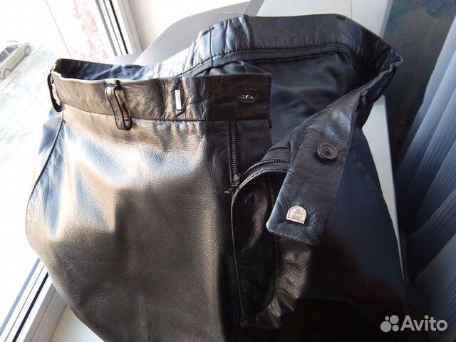 Брутальные кожаные брюки  89139131619 купить 7