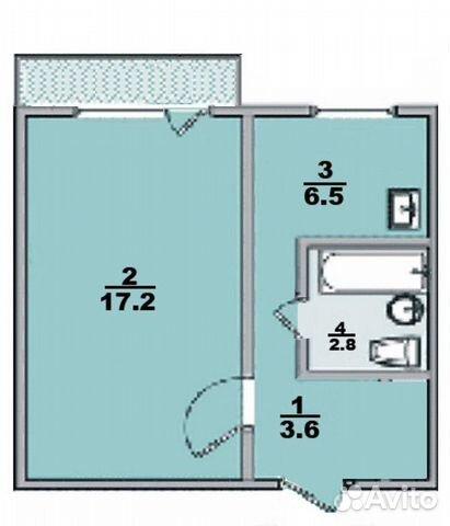 1-к квартира, 31.2 м², 5/5 эт.  89586006691 купить 1