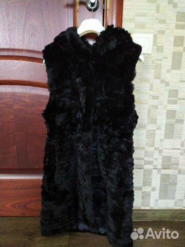 Жилетка из стриженного кролика 89174163780 купить 1