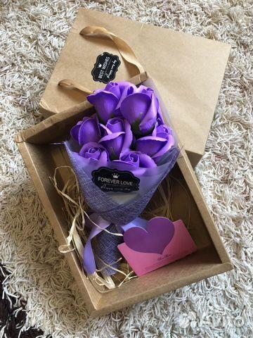 Букет из роз (мыльные розы) подарочный набор из ро  89157798590 купить 1