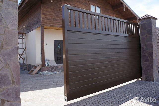 Откатные алюминиевые ворота  89375068699 купить 2
