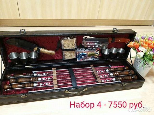 Подарочный набор шампуров для шашлыка в кейсе купить 5