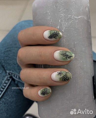 Маникюр наращивание ногтей купить 7