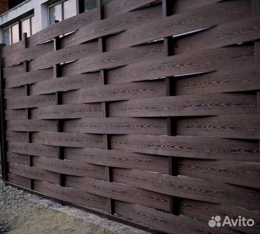 Забор плетенный Ограждение профнастил купить 3