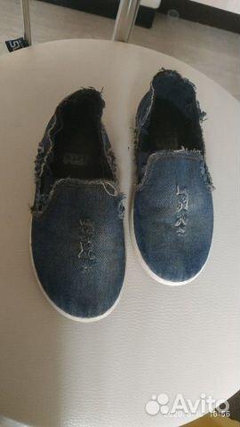 Слипоны джинсовые-кеды