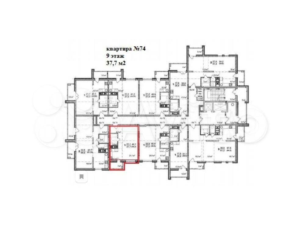 1-к квартира, 37.7 м², 9/16 эт.