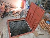 Люк напольный металлический, подвал