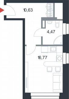 Студия, 31.9 м², 7/21 эт. объявление продам