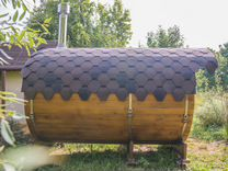 Баня бочка 3 м