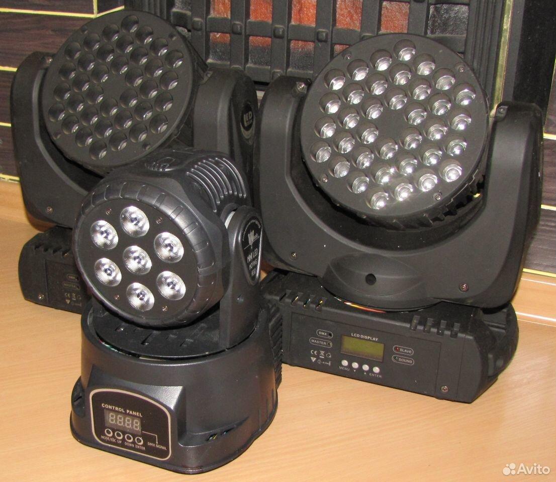 Проф светомузыка 3 вращающиеся головы LED микрофон  89128899109 купить 6