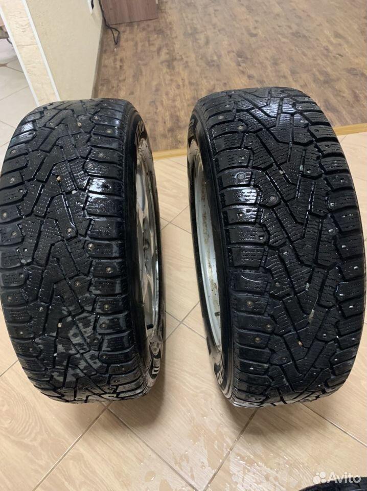 Диски + 2 резины(шипы) R16 Mercedes Benz  89231102244 купить 3