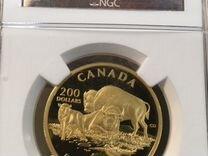 Фауна канада золото 1 унция бизоны