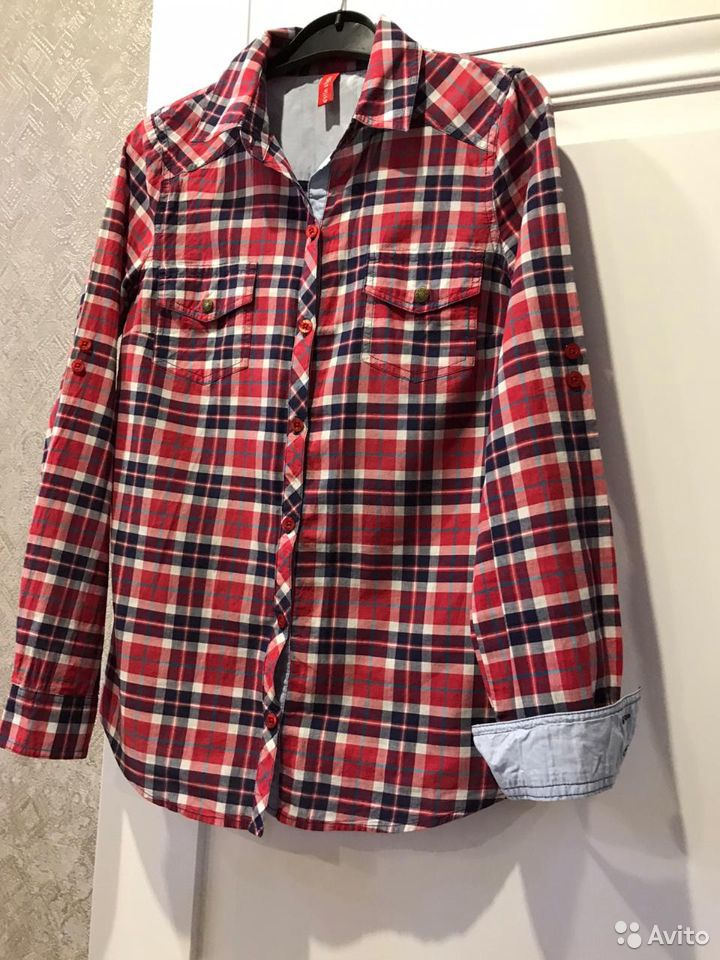 Рубашка в клетку  89616621571 купить 2