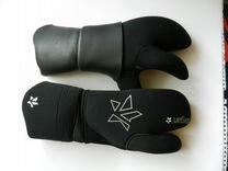 Перчатки 9 мм. трехпалые, новые XL,для подводн. ох
